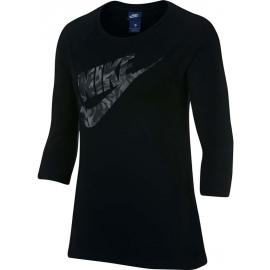 Nike TOP SS TXT FLORAL - Dámský top