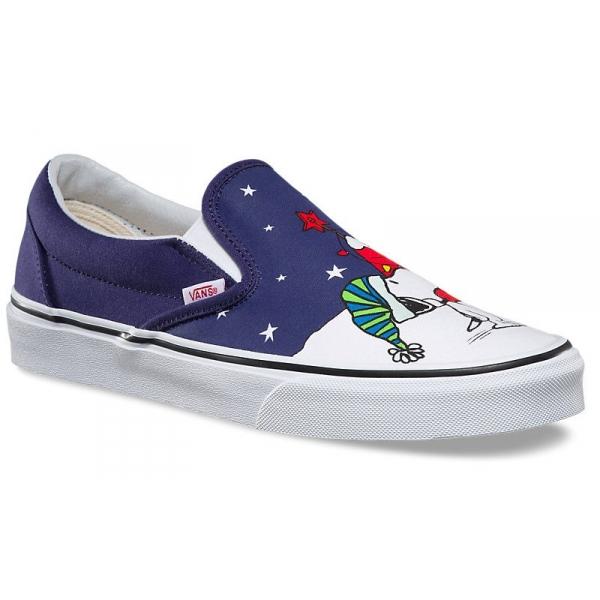 4e7ec6f7e Vans UA CLASSIC SLIP-ON PEANUTS - Dámské vycházkové boty