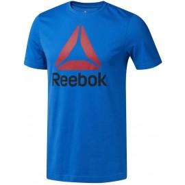 Reebok QQR-REEBOK STACKED - Pánské sportovní tričko