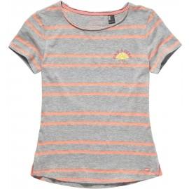 O'Neill LG STRIPEY SURF S/SLV T-SHIRT - Dívčí tričko