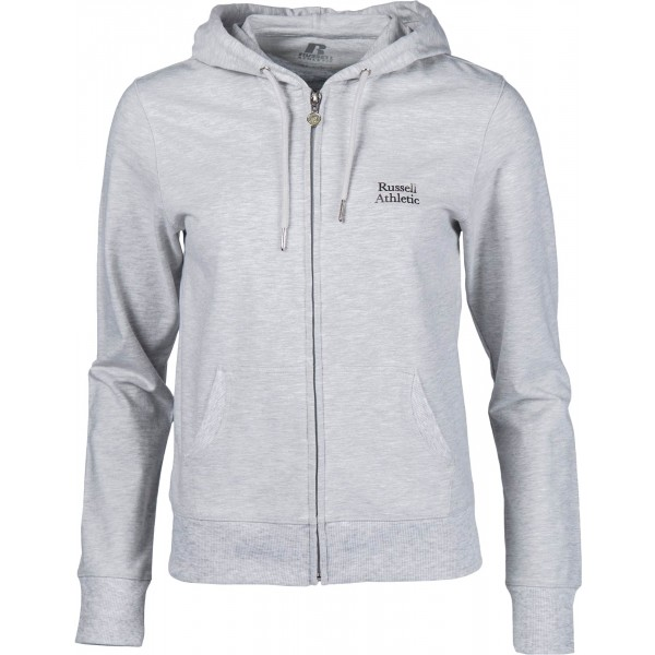 Russell Athletic ZIP THROUGH HOODY WITH SILVER PRINT - Dámská mikina a7a74662f8c