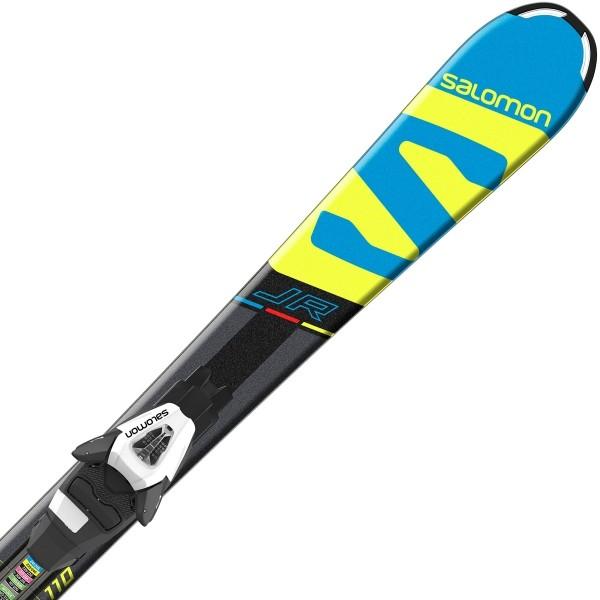 ed92ba3dfd Salomon E X-RACE JR S + E C5 - Juniorské sjezdové lyže