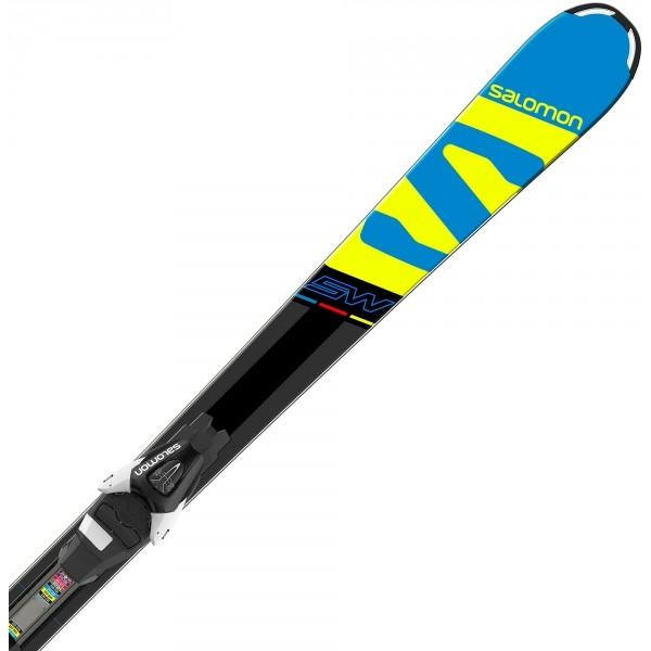 7ab32d87e8 Salomon E X-RACE JR SW + E L7 - Juniorské sjezdové lyže