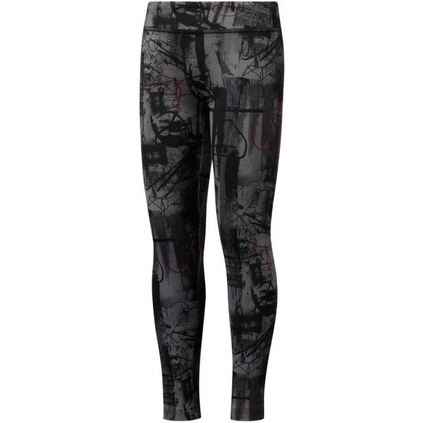 Reebok GIRLS REEBOK ADVENTURE WORKOUT READY LEGGING - Dětské legíny