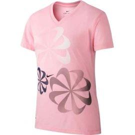 Nike NK DRY LEG TEE V SWOOSH - Dívčí tričko