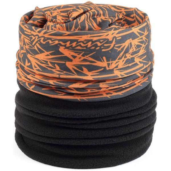 Finmark DĚTSKÝ MULTIFUNKČNÍ ŠÁTEK S FLÍSEM - Dětský multifunkční šátek s  fleecem 02b990e375