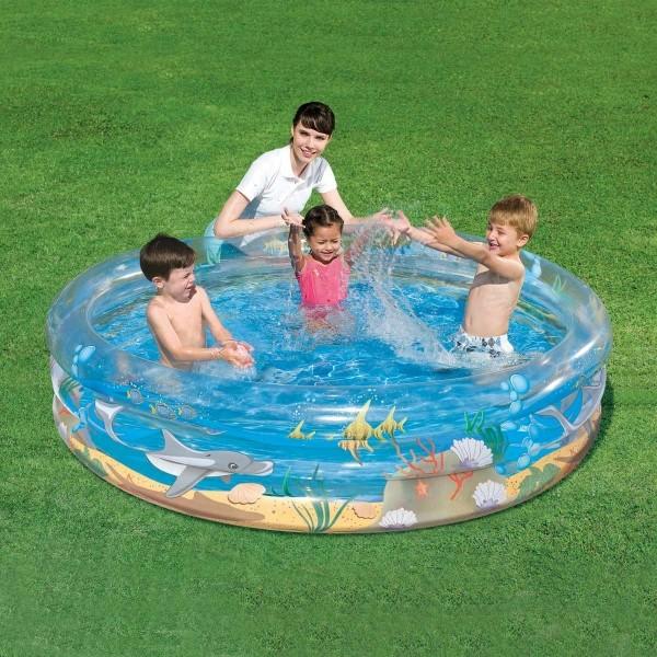 Bestway TRANSPARENT SEA LIFE POOL - Nafukovací bazén