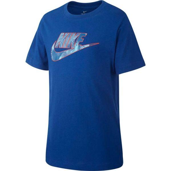 Nike B NSW TEE FUTURA FILL - Chlapecké triko