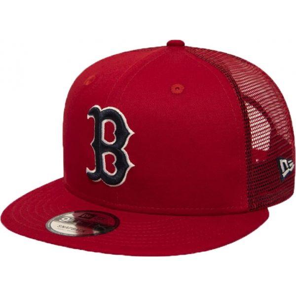 New Era 9FIFTY MLB ESSENTIAL A FRAME BOSTON RED SOX TRUCKER CAP - Pánská klubová truckerka