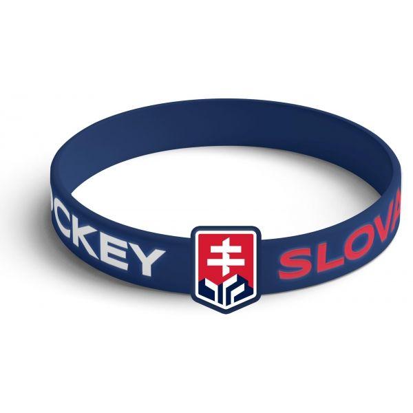 Střída SILIKONOVY NARAMOK VYSTOUPLE LOGO SLOVAKIA HOCKEY - Silikonový náramek