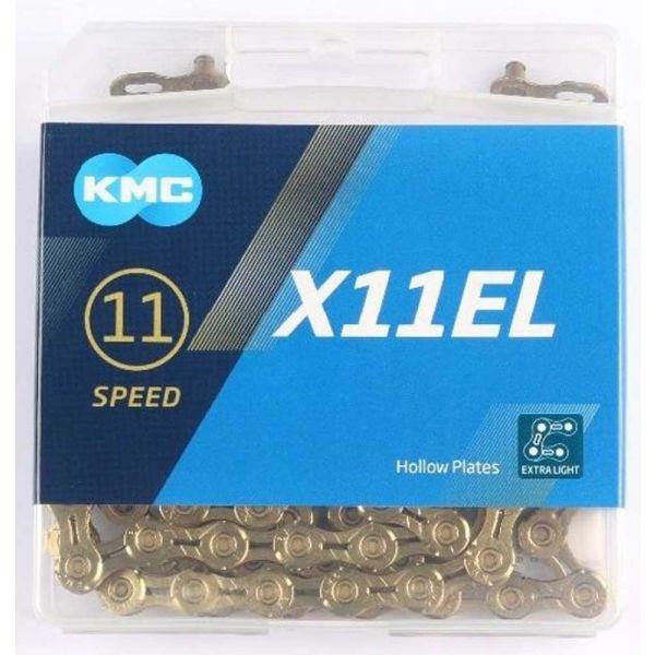 KMC X11-EL GOLD BOX - Řetěz na kolo