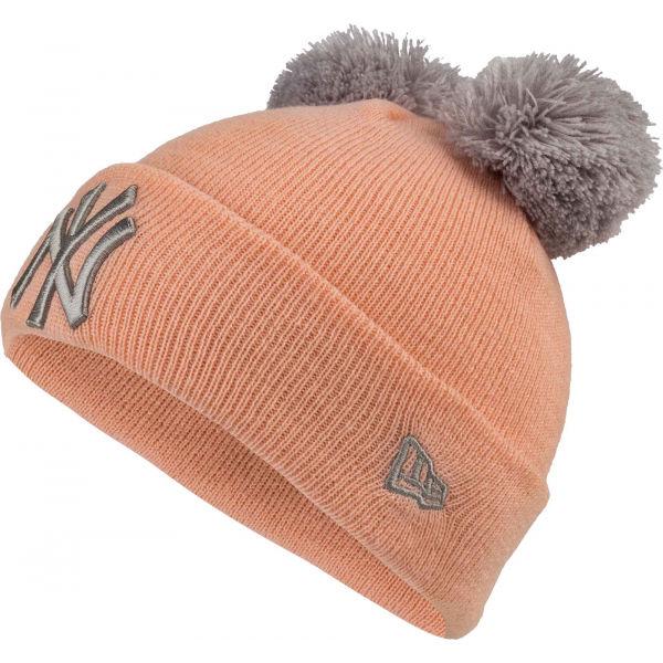 New Era MLB DOUBLE POM KNIT CUFF KIDS NEW YORK YANKEES - Dívčí zimní čepice