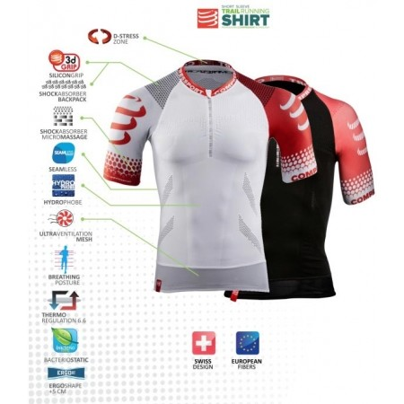 TRAIL SHIRT - Pánské běžecké triko - Compressport TRAIL SHIRT - 4